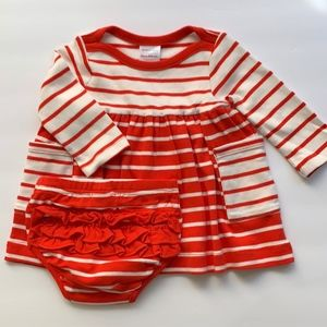 Hanna Anderson Baby Girl Red & White Cotton Dress